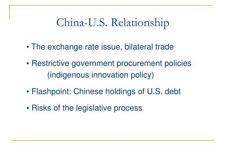 China-U.S. Relationship