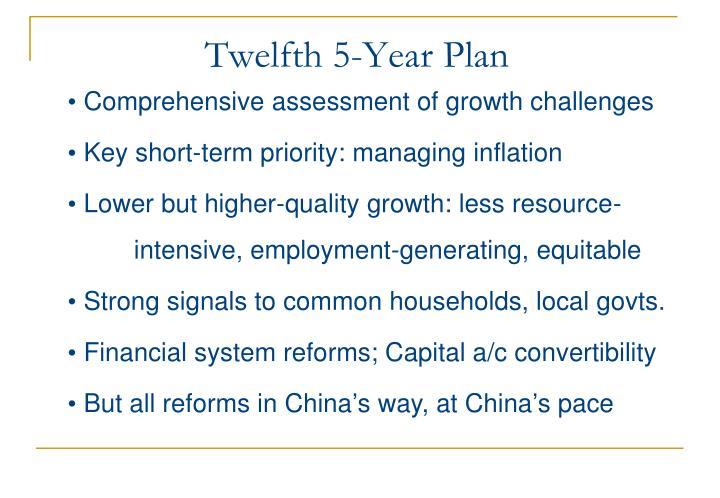 Twelfth 5-Year Plan