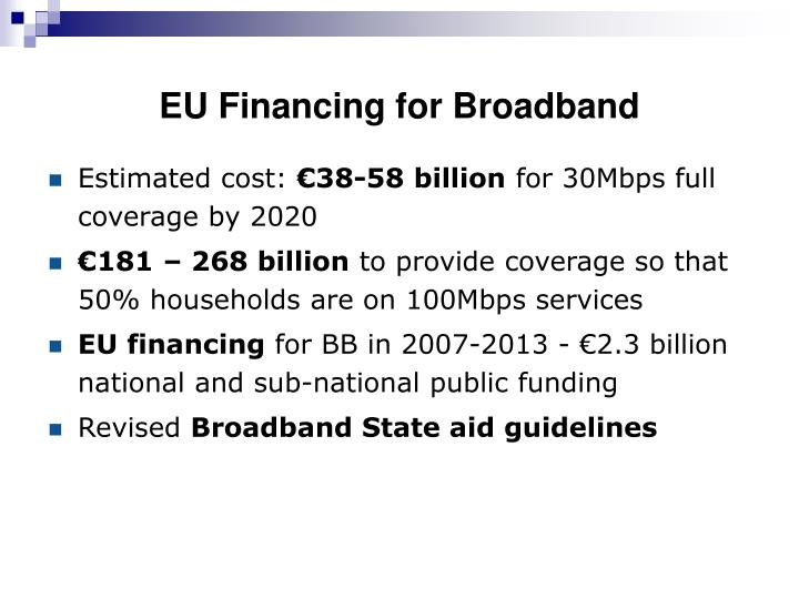 EU Financing for Broadband