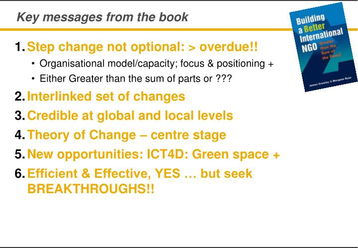 Key messages from the book