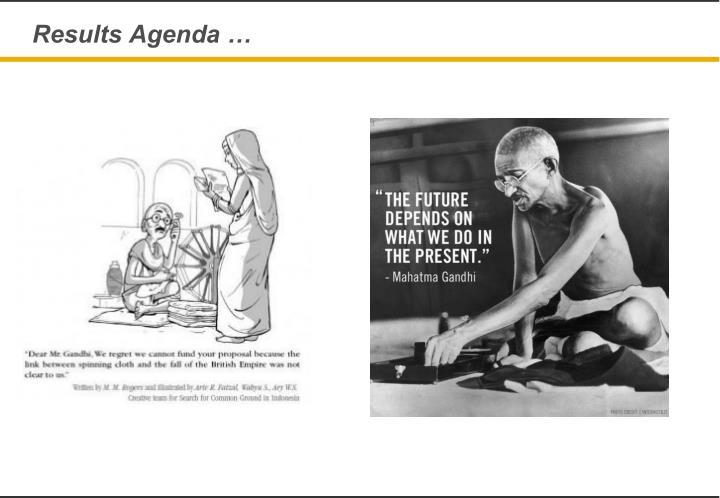 Results Agenda …