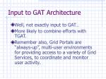 input to gat architecture