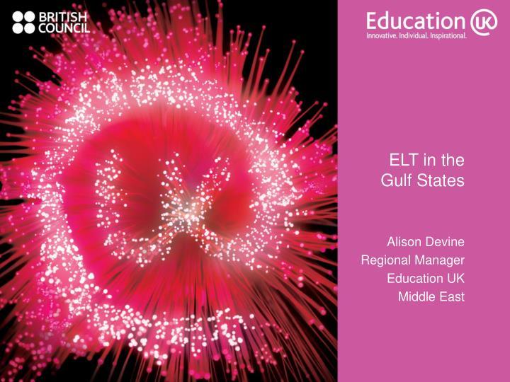 elt in the gulf states n.