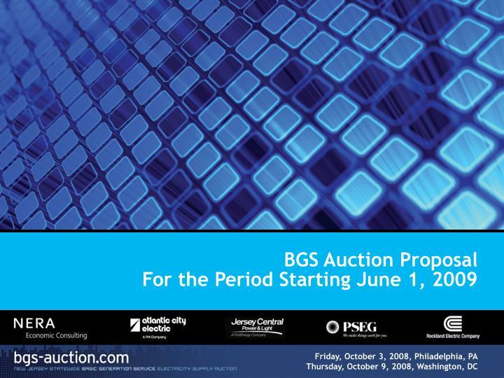BGS Auction Proposal