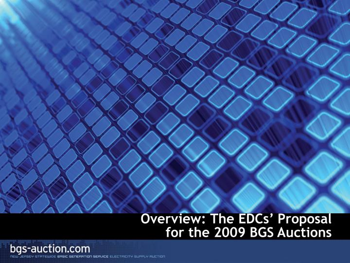 Overview: The EDCs' Proposal