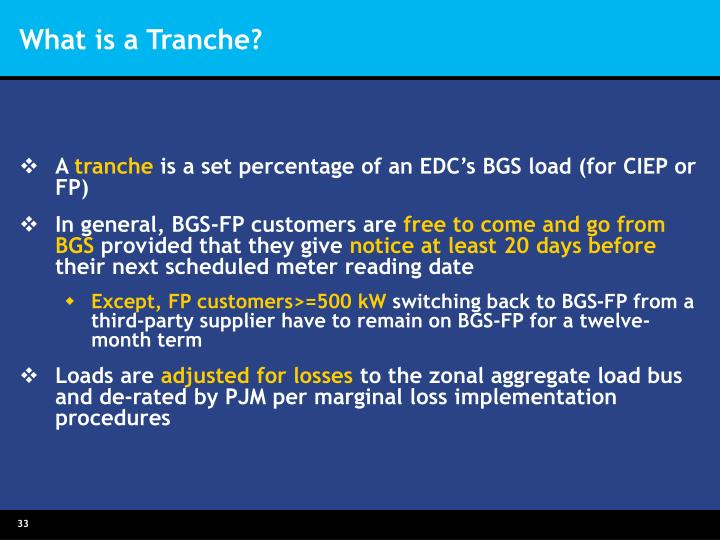 What is a Tranche?