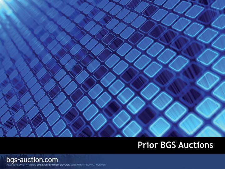 Prior BGS Auctions