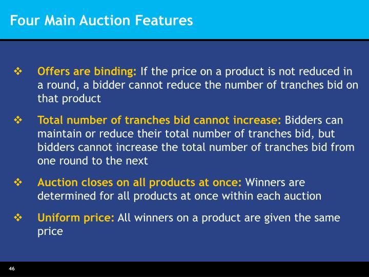 Four Main Auction Features