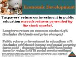 taxpayers return on investment in public education exceeds returns generated by the stock market