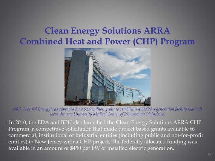 Clean Energy Solutions ARRA