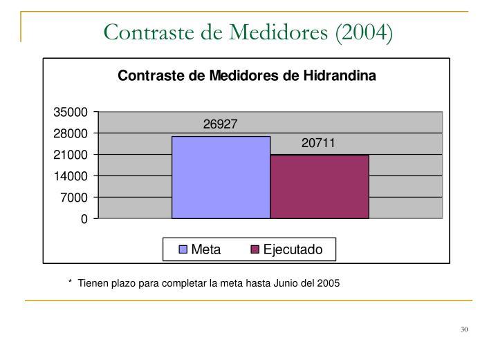 Contraste de Medidores (2004)