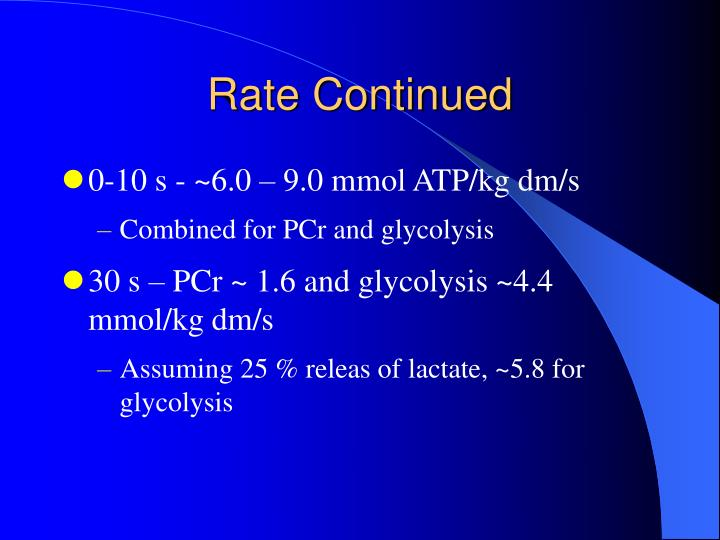 Rate Continued