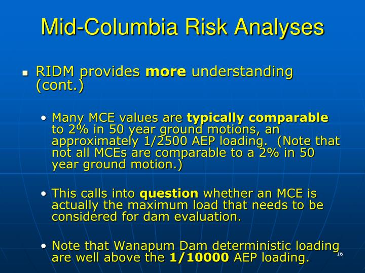 Mid-Columbia Risk Analyses