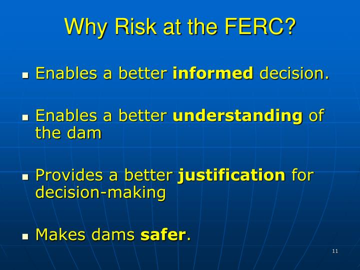 Why Risk at the FERC?