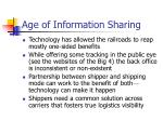 age of information sharing