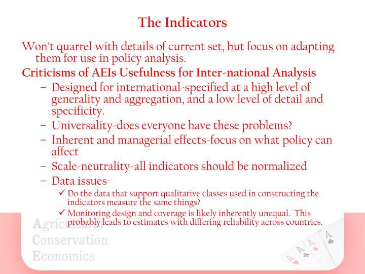 The Indicators