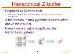 hierarchical z buffer