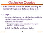 occlusion queries