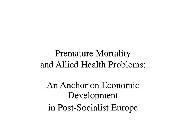 Premature Mortality
