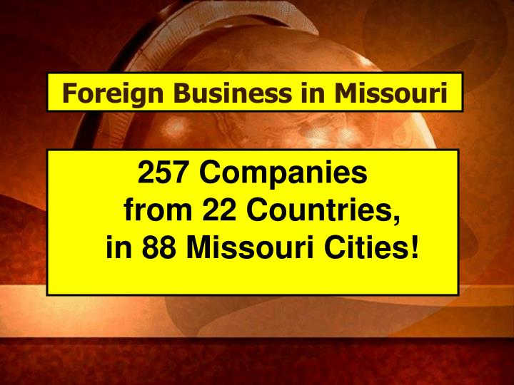 Foreign Business in Missouri