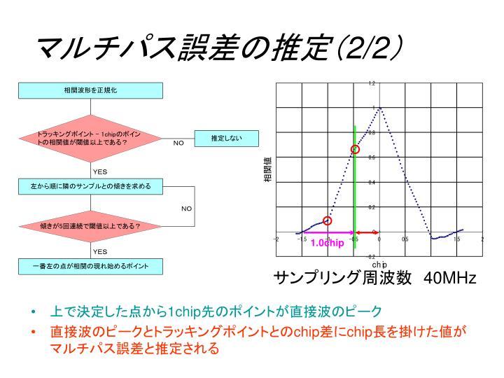 マルチパス誤差の推定(