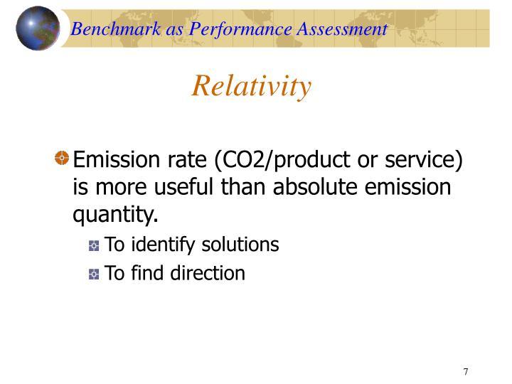 Benchmark as Performance Assessment