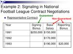 example 2 signaling in national football league contract negotiations