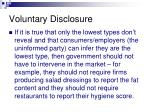 voluntary disclosure2