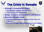 the crisis in somalia1