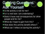 guiding questions ask yourself