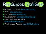 resources national