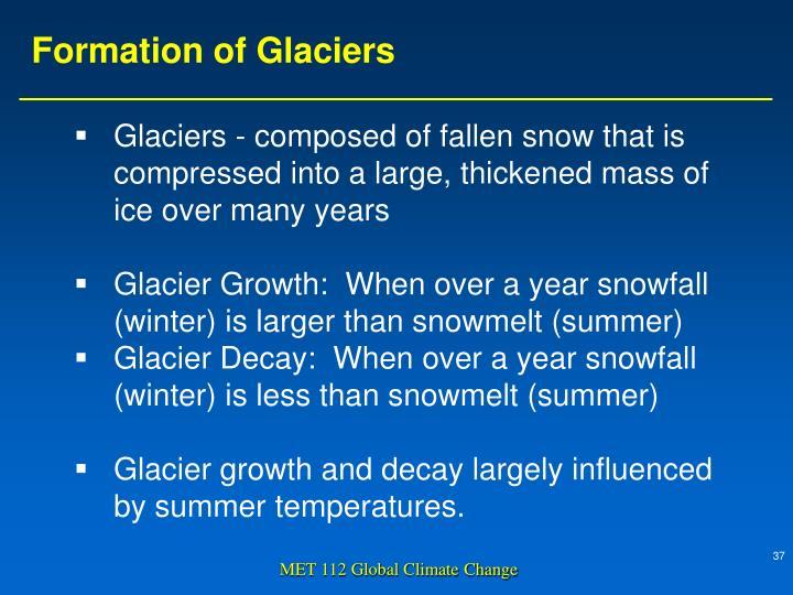 Formation of Glaciers