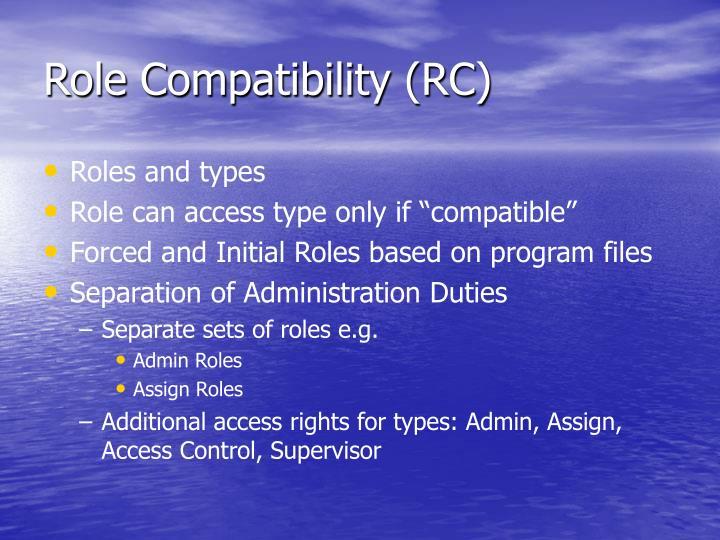 Role Compatibility (RC)