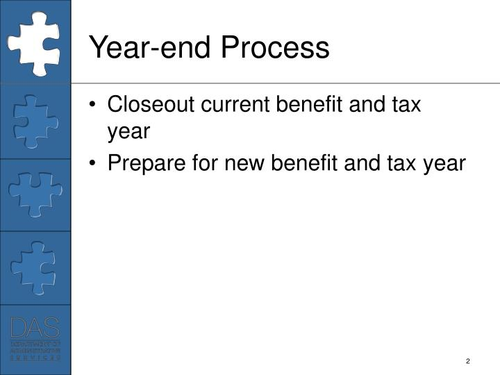 Year end process