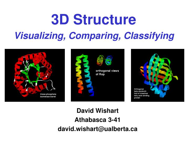 3d structure visualizing comparing classifying n.