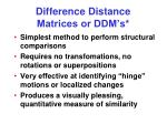 difference distance matrices or ddm s