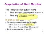 computation of best matches1