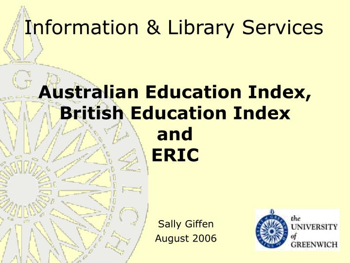 Information library services