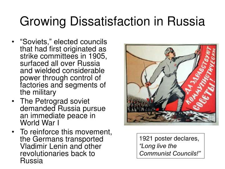 Growing Dissatisfaction in Russia