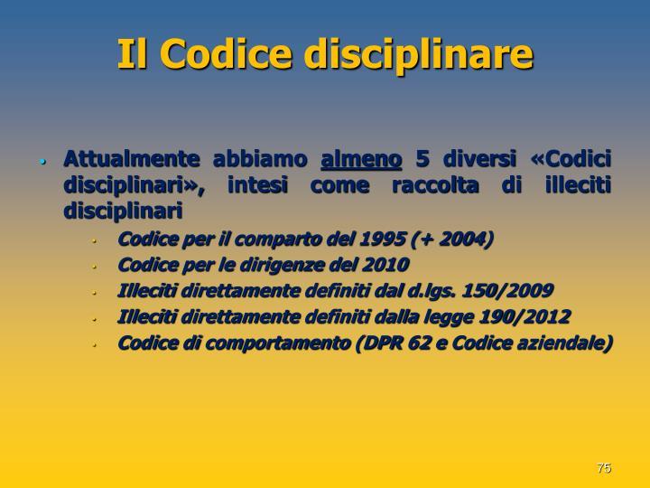 Il Codice disciplinare