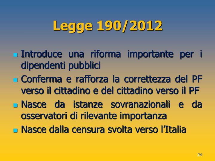 Legge 190/2012