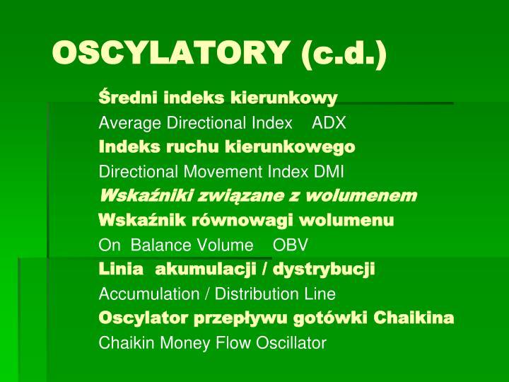 Oscylatory c d