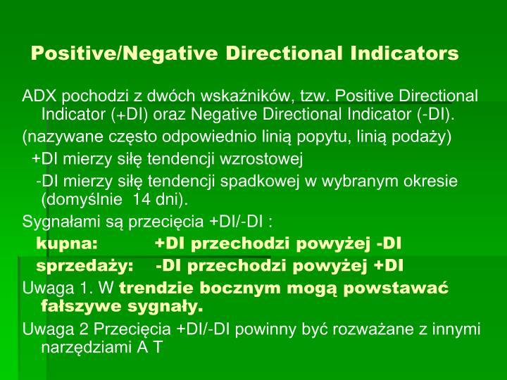 Positive/Negative Directional Indicators
