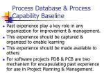 process database process capability baseline