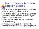 process database process capability baseline1