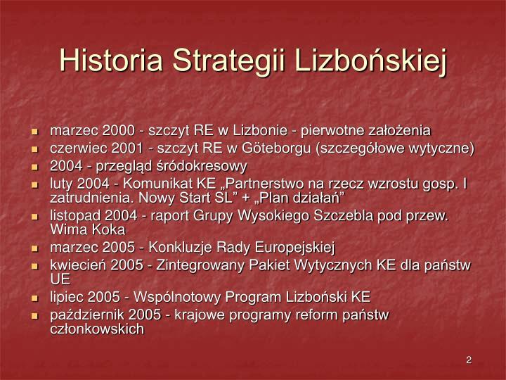 Historia strategii lizbo skiej