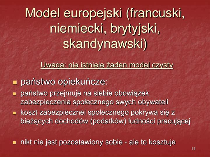 Model europejski (francuski, niemiecki, brytyjski, skandynawski)