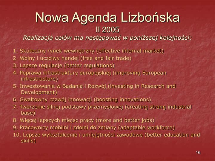 Nowa Agenda Lizbońska