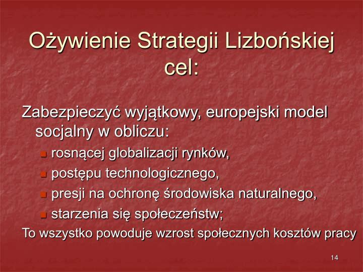 Ożywienie Strategii Lizbońskiej