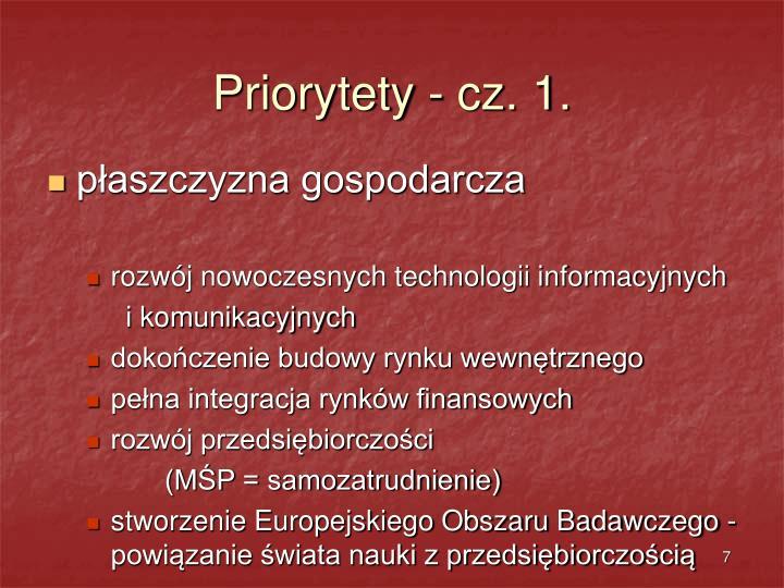 Priorytety - cz. 1.
